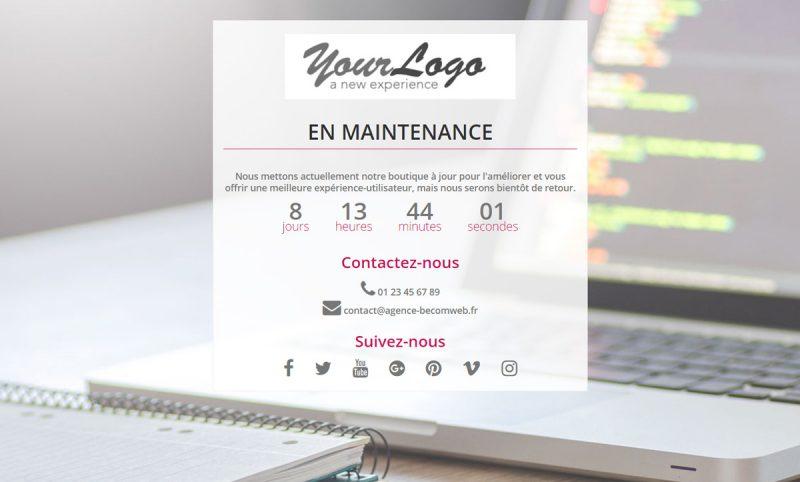 Enrichissez le design de la page de maintenance de Prestashop