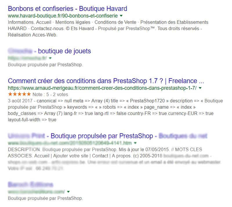 Personnaliser les meta title et meta description de Prestashop pour la recherche Google