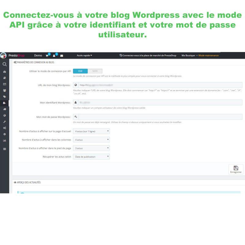 Affichez les actus de votre blog dans Prestashop avec l'API de Wordpress