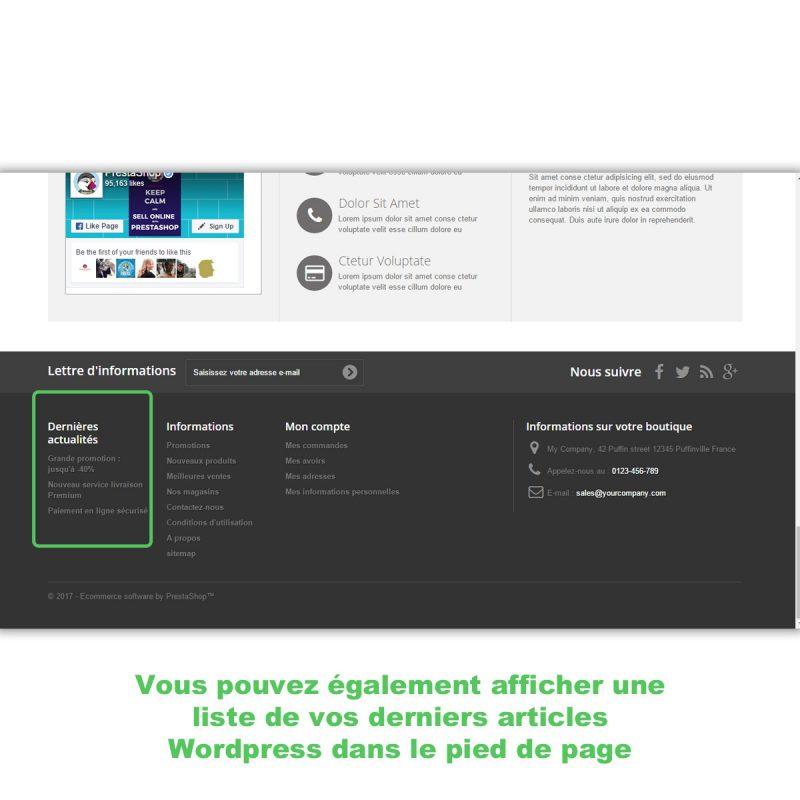 Connecter Wordpress et Prestashop pour afficher les dernières actus du blog
