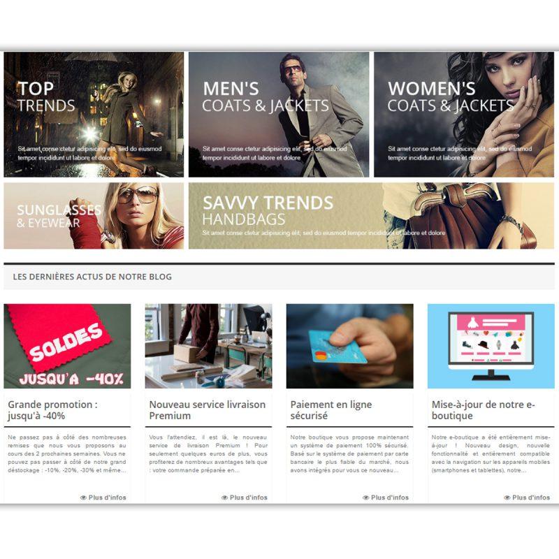 Intégration de l'affichage des actualités du blog Wordpress dans une boutique Prestashop