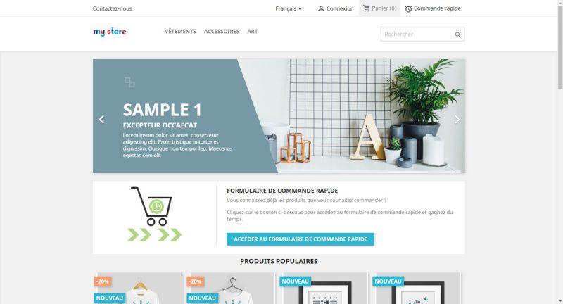 Proposer un formulaire de commande rapide aux clients de votre boutique Prestashop