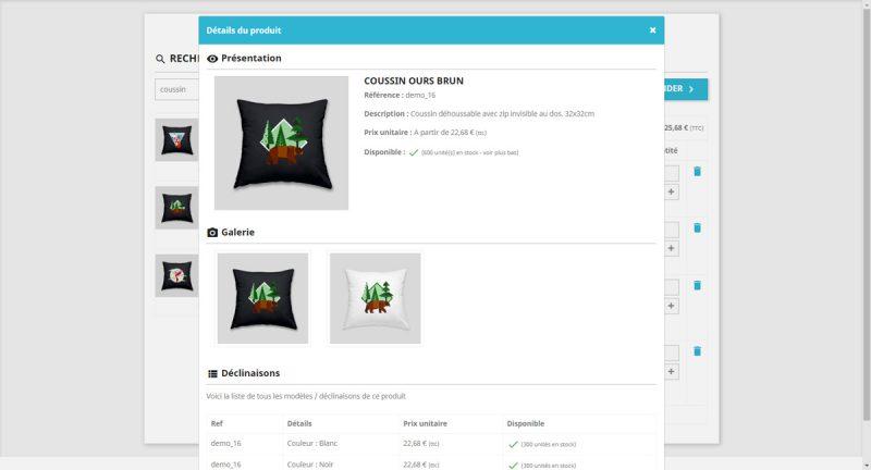 Ajouter tous les produits depuis la même page avec le formulaire de commande rapide pour Prestashop