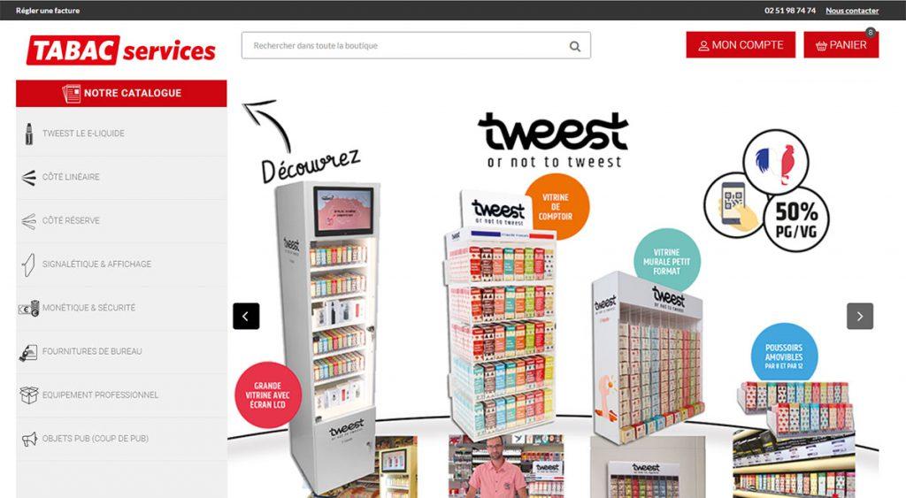 Tabac Services - boutique Prestashop 1.6 réalisée par BeComWeb à la Rochelle