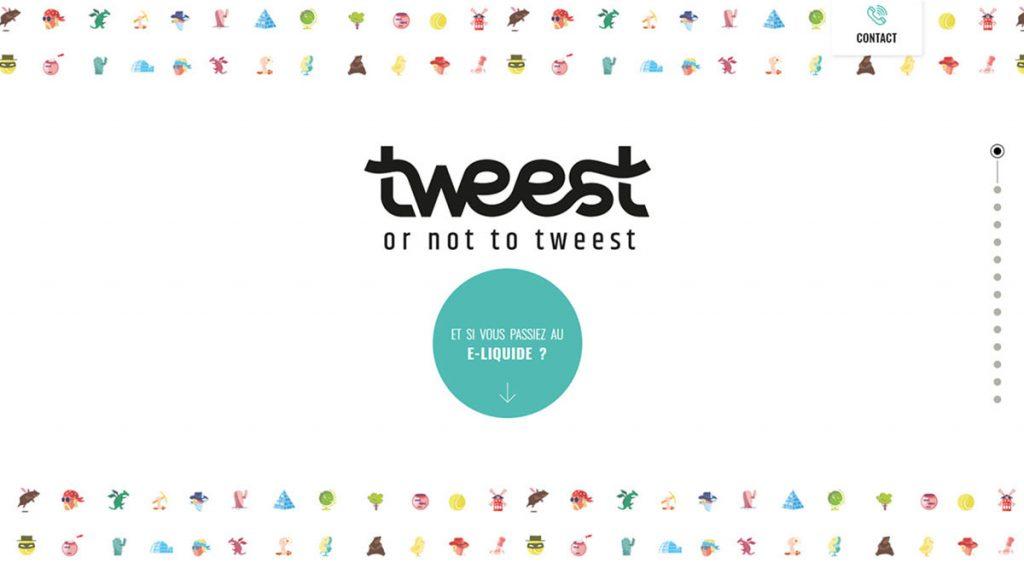 Tweest e-liquides - site one-page Wordpress 1.6 réalisé par BeComWeb à la Rochelle