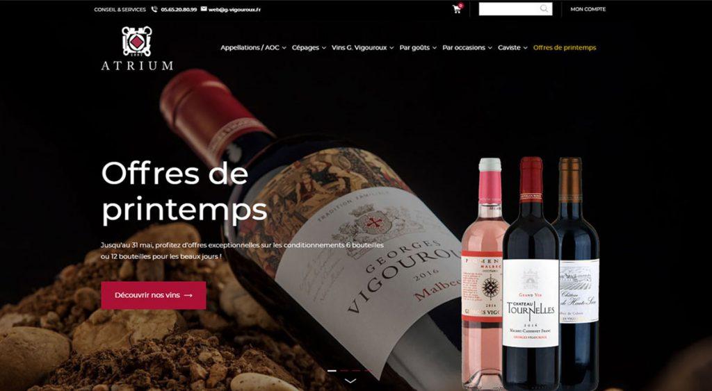 Boutique en ligne Prestashop 1.7 pour vigneron caviste