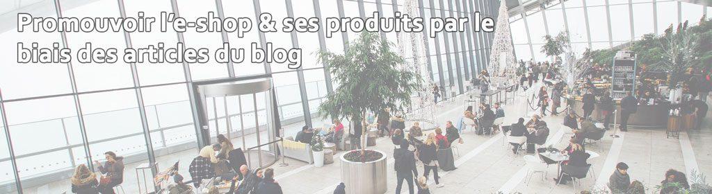 Le blog est idéal pour faire la promotion d'un site marchand et de ses produits
